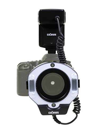 Dörr DMF-15 Makro Ringblitz für Sony Kamera schwarz