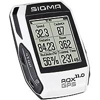 Sigma Rox Compteur GPS de vélo Mixte Adulte, Blanc