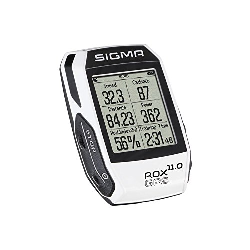 Sigma Sport Fahrrad Computer ROX 11.0 GPS Set white, Track-Navigation, Smart-Connectivity, Strava, Weiß
