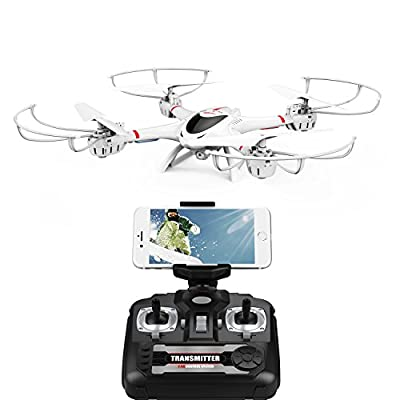 MJX X400 W WiFi FPV Drone Camera Head Los Mode Car Flip 3D Helicopter RC Drone for Beginner to Practice