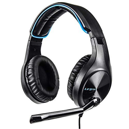 Xbeast Gaming Headset, Kabelgebundene Gaming-Kopfhörer mit omnidirektionalem Mikrofon, 40-mm-Treiber für Surround-Sound-Kopfhörer mit Protein-Ohrenschützern