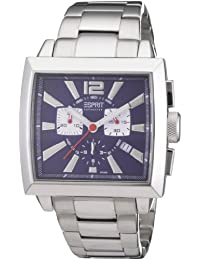 Esprit Collection - EL101031F06 - Istros - Montre Homme - Quartz Chronographe - Cadran Bleu - Bracelet Acier Argent