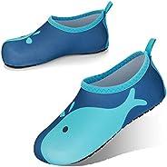 JOTO Water Shoes for Women Men Kids, Barefoot Quick-Dry Aqua Water Socks Slip-on Swim Beach Shoes for Snorkeli