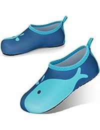 JOTO Zapatos de Agua para Niños Chicos, Zapatillas Acuáticas Secado Rápido Tipo Calcetines como Descalzado, Escarpines Deportivos para Paseo en Playa Buceo Snorkel Kayak Surf