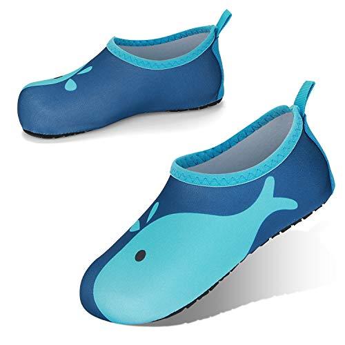 JOTO Wasserschuhe für Babys Kleinkinder Kinder Mädchen Jungen, Unisex Badeschuhe Strandschuhe Quick-Dry Schnelltrockend Aquaschuhe Schwimmschuhe Surfschuhe Barfuß Schuhe -Navywal