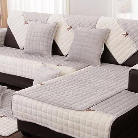 New day-Inverno divano spessi cuscino del divano contro - copertura divano in tessuto antiscivolo , C , 70*70cm