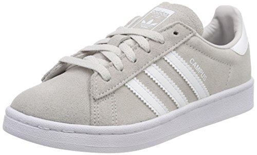 Adidas Campus, Scarpe da Ginnastica Basse Unisex-Bambini, Grigio (Grey One Footwear White), 38 EU