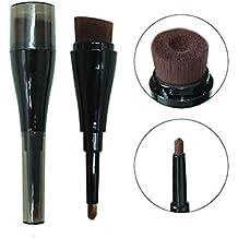Maquillaje 1pc Cepillos Fundación líquida Cepillo con Synthetic Dense cerdas Groove Diseño Groove Pincel Corrector Buffing