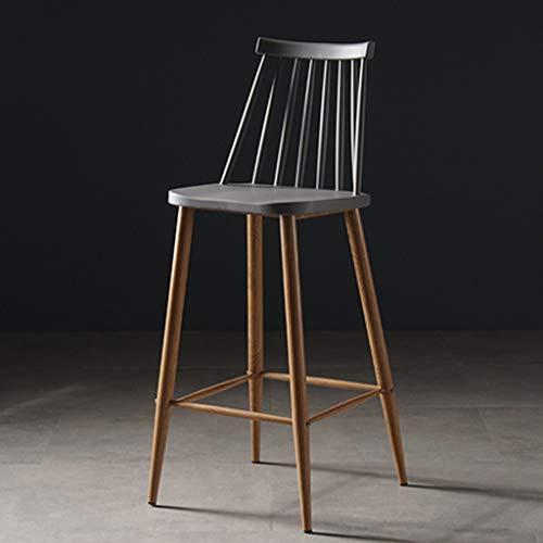 Zurück Stühle, Hocker (OHGQY Massivholz Tee Shop Restaurant Eisen fuß hoch hocker Kunststoff bar zurück Stuhl sitzhöhe 65 cm 5 Farbe optional (Color : C))
