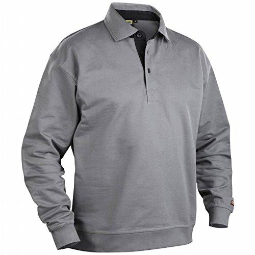 Blakläder 337011589400x L Sweat Kragen Polo Größe XL grau