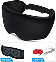 Sleep headphones,Eye Mask with HD Audio Speaker 3D Contoured Sleeping Mask superior for Insomnia, Side Sleeper