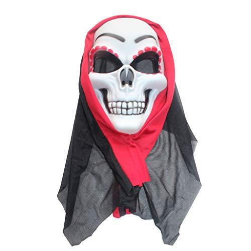 Maschera teschio rosso maschera halloween maschera cosplay di coppia di halloween, trova il tuo partner al più presto maschere (color : red, size : 25 * 17cm/10 * 7inch)