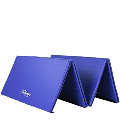 Physionics Fitness Yoga Exercise Folding Mat (Blue) Foam Mat for Gymnastics Aerobic Pilates Judo Pregnancy Exercises