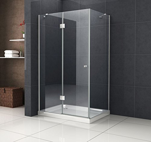 Duschkabine RECREO 120 x 90 x 190 cm ohne Duschtasse