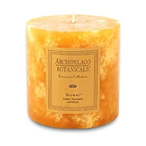 "Archipelago Botanicals ""Dubai"" Pillar Candle - 3.5"" x 3.5"""