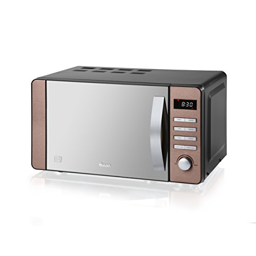 Swan SM22090COPN Digital Microwave, 800w, 20L, Copper