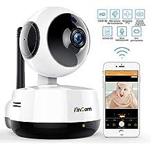 Kincam 1080P WIFI IP Telecamera di Sorveglianza 360°Camera Interno Telecamera videosorvegilanza con Audio Bidirezionale,Modalità Notturna a Infrarossi Videocamera Compatibile con iOS Androi