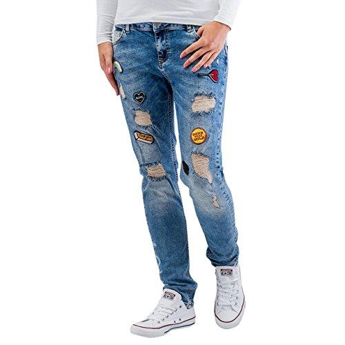 Just Rhyse Roslyn Damen Jeans Blau Blau
