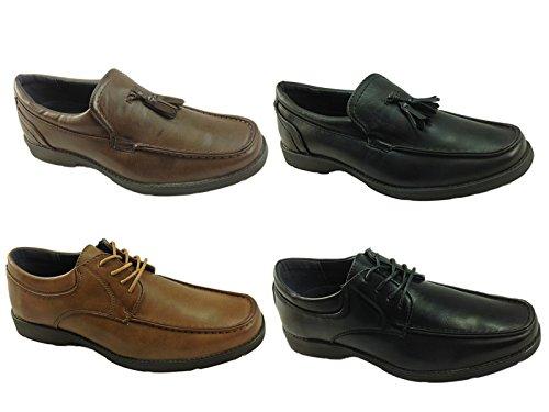Foster Footwear ,  Jungen Herren Durchgängies Plateau Sandalen mit Keilabsatz LSC903:Brown
