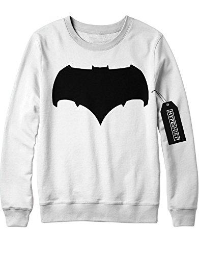 Sweatshirt Batman V Superman Logo Wonderwoman Aquaman DC Comic Kostüm C980002 Weiß (Batman Kostüm Arkham Origins Knight Dark The)