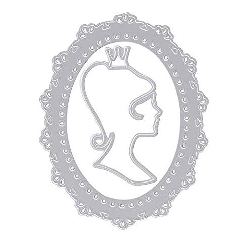 Loegrie Miroir en métal de coupe Dies Pochoirs Scrapbooking papier