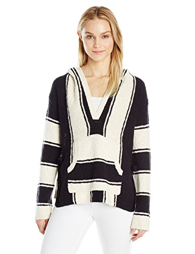 Pam & Gela Damen Baja Pullover gestreift - Mehrfarbig - Klein Baja Womens Sweatshirt