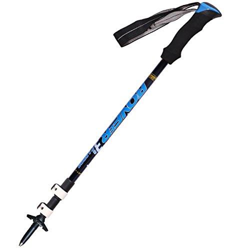 FDHLTR Ultraleichter Carbon-Lock-Bergsteiger-Skistock Trekkingstock- (Color : Blue)
