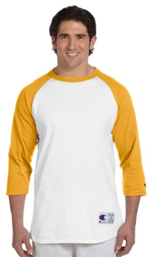 Everybody's Gay auf American Apparel Fine Jersey Shirt Weiß / Goldfarben