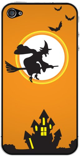 Cellet/Fliegende Hexe Halloween Haut für iPhone 4/4S, Orange - 4 Iphone Für Bildschirm Sprint