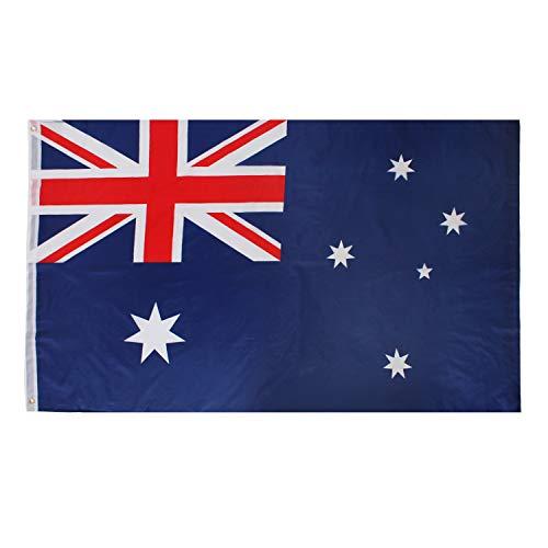 ILOVEFANCYDRESS AUSTRALIEN Dekoration KOSTÜM VERKLEIDUNG =MIT+OHNE ZUBEHÖR=Fussball Sport LÄNDER ABMESSUNGEN VON 152cmX91cm=Flagge (Kostüm Zubehör Australien)