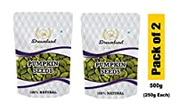 Dreamland Premium Quality Raw Pumpkin Seeds, 500g (Pack of 2)(250g Each)