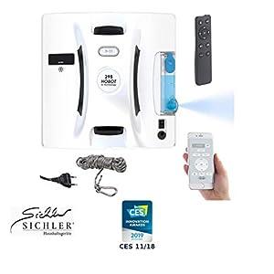 Sichler Haushaltsgeräte Fensterputzroboter: Profi-Fensterputz-Roboter mit Sprüh-Funktion, Bluetooth, App-Steuerung (Fensterreinigungsroboter)