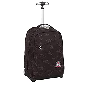 TROLLEY INVICTA - FREE - 2in1 Wheeled Backpack with Disappearing Shoulder Straps - Black 35Lt by Invicta
