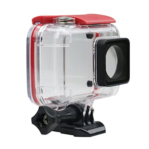 Phenovo 45m Waterproof Housing Case for Xiaomi YI 2 4K Sports Action Cam Camera Red  available at amazon for Rs.1040