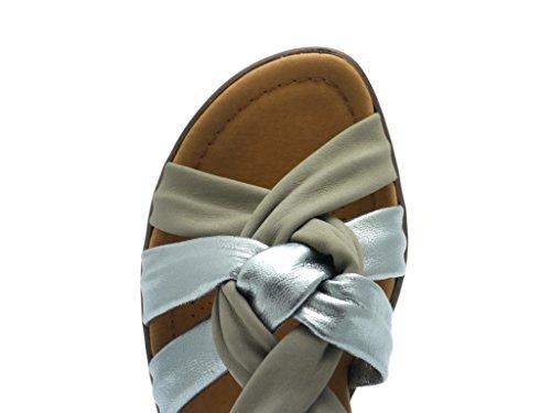 araPrato - Sandali con Cinturino alla Caviglia Donna Grigio (grigio)