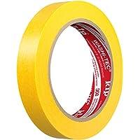 Kip 308-19 Extra dünnes Malerklebeband für scharfe Kanten aus japanischen Washi Spezialpapier, gelb, 19 mm x 50 m