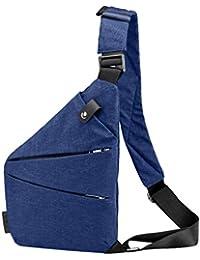 OYSOHE Unisex Umhängetaschen, Schultertasche Lässige Leinwand Brusttasche Anti Diebstahl Umhängetaschen