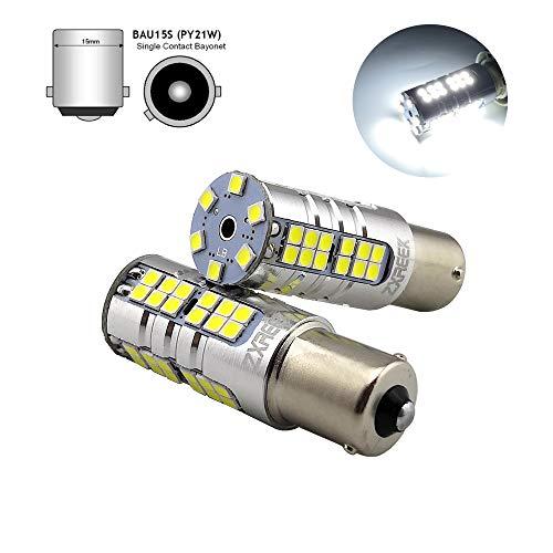 ZXREEK BAU15S 1156PY PY21W S25 7507 3000lm 54 3030 SMD Xtremely Super Lumineux LED de recul éclairage de recul AC 9-30 V 6000 K Blanc xénon (lot de 2)