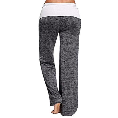 Zhhlaixing Autumn New Comfortable Pantalon Femme Long Pants Mid Waist Yoga Running Trousers for Women Loose gray