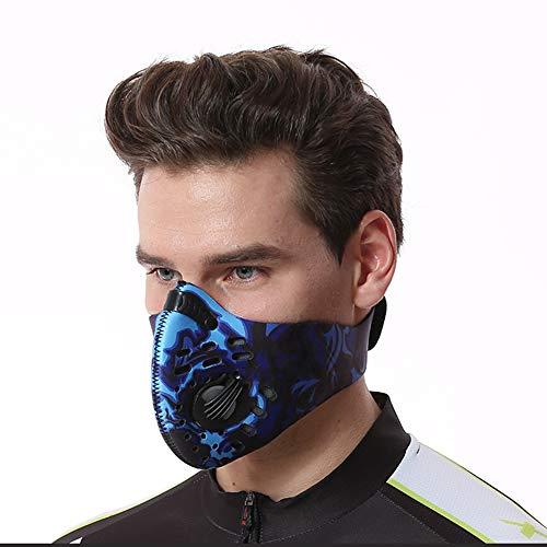 SYCHONG Laufmaske Atemschutz Maskcold Anti-Fog Anti-Pollution-Windundurchlässiger Anti-Staub Für Sport-Motorrad-Fahrrad Outdoor-Aktivitäten,B