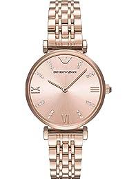 Emporio Armani Dress Analog Pink Dial Women's Watch - AR11059I