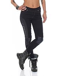 5996 Fashion4Young Damen Hautenge Treggings Leggings Hose pants Stretch-Stoff Damenhose 5 Größen