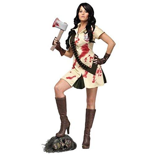 Fun World - Zombie Jägerin Kostüm - (World Fun Kostüm Zombie)
