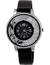 SPINOZA KNK-143L75 Beautiful Flower Desing On Glass Atractive And Fancy Watch For Girls