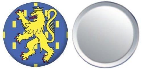 Miroir insigne de bouton France Franche Comte drapeau - 58mm