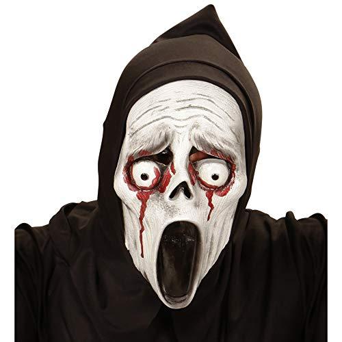 Maschera con cappuccio fantasma ululantee con occhi sanguinanti taglia unica bambino