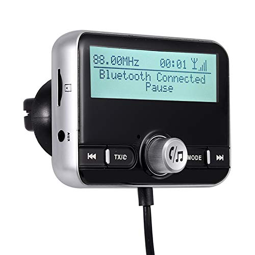 DAB + Auto Ladegerät Bluetooth V4.2 + EDR FM Transmitter Drahtloses Radio DAB Autoadapter QC3.0 Hände frei Auto Kits MP3 Player Radio Adapter 2.4In-Display Dual-USB mit 3M-Antenne und 3,5 mm AUX -
