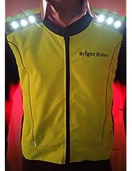 Bright LED clignotant 12 Rider haute visibilité-Gilet réfléchissant de sécurité avec batterie Rechargeable USB-vaisselle Cyclisme, course à pied top