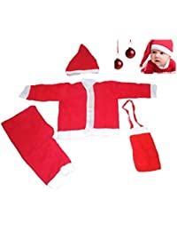 Jiada Santa Claus Dress/Costume - (Size No. 1 for Ages 1 to 2 Yrs) - Red