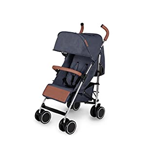 Ickle Bubba Baby Strollers | Lightweight Stroller Pushchair | Compact Fold Technology for Easy Transport and Storage | UPF 50+ Extendable Hood and Rain Cover | Discovery, Denim Blue/Silver Izmi Use from birth (3.2kg-15kg), new born cushion inserts included with carrier Includes mesh panel to increase ventilation and keep your baby cool in warmer weather 4 carrying positions: front carry, outward facing carry, hip carry or back carry 7